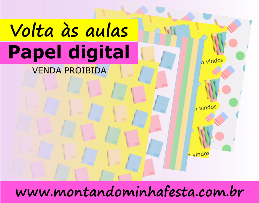 Banner papel digital volta as aulas