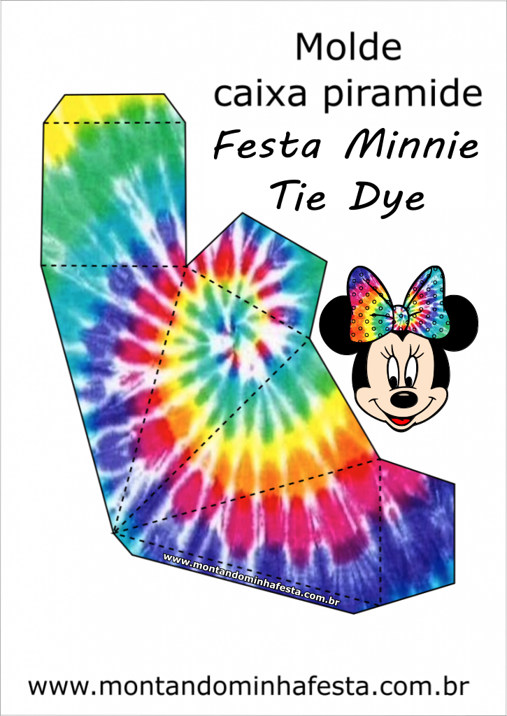 Kit festa Minnie Tie Dye